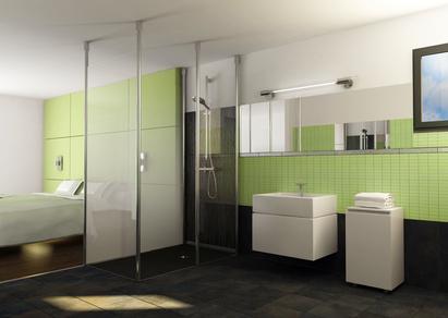 Bad und Schlafzimmer kombinieren