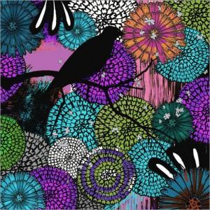 Florale Muster für die Wand