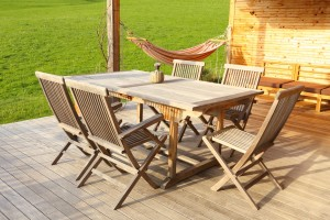 Outdoormöbel-Holz
